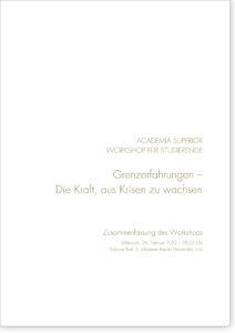 Young Academia Workshop 2014 – Grenzerfahrungen