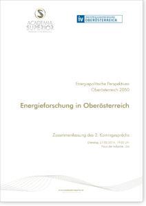 """Kamingespräch Energiepolitische Perspektiven für Oberösterreich:  """"Energieforschung in Oberösterreich"""""""